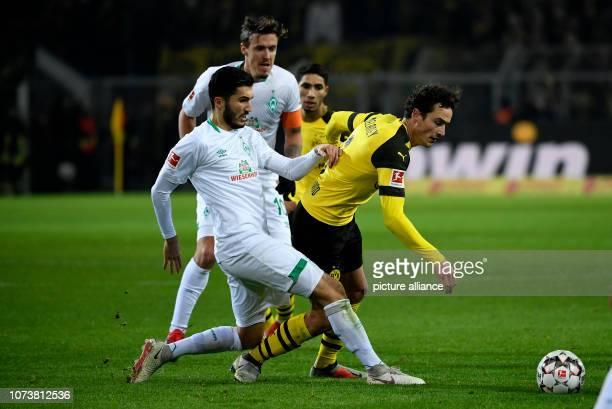15 December 2018 North RhineWestphalia Dortmund Soccer Bundesliga Borussia Dortmund Werder Bremen 15th matchday at Signal Iduna Park Thomas Delaney...
