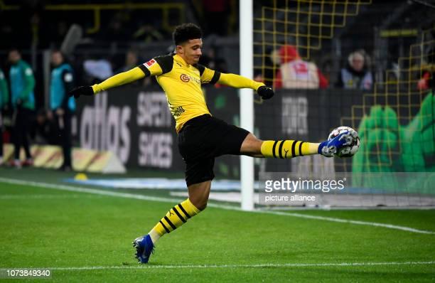 15 December 2018 North RhineWestphalia Dortmund Soccer Bundesliga Borussia Dortmund Werder Bremen 15th matchday at Signal Iduna Park Jadon Sancho of...