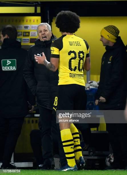 15 December 2018 North RhineWestphalia Dortmund Soccer Bundesliga Borussia Dortmund Werder Bremen 15th matchday at Signal Iduna Park Coach Lucien...