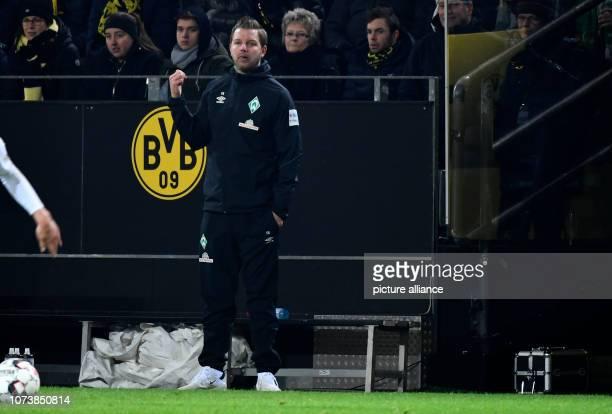 15 December 2018 North RhineWestphalia Dortmund Soccer Bundesliga Borussia Dortmund Werder Bremen 15th matchday at Signal Iduna Park Coach Florian...