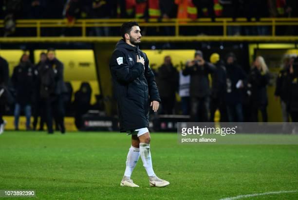 15 December 2018 North RhineWestphalia Dortmund Soccer Bundesliga Borussia Dortmund Werder Bremen 15th matchday at Signal Iduna Park Nuri Sahin from...