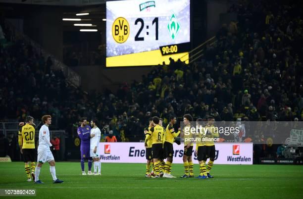 15 December 2018 North RhineWestphalia Dortmund Soccer Bundesliga Borussia Dortmund Werder Bremen 15th matchday at Signal Iduna Park The team of...