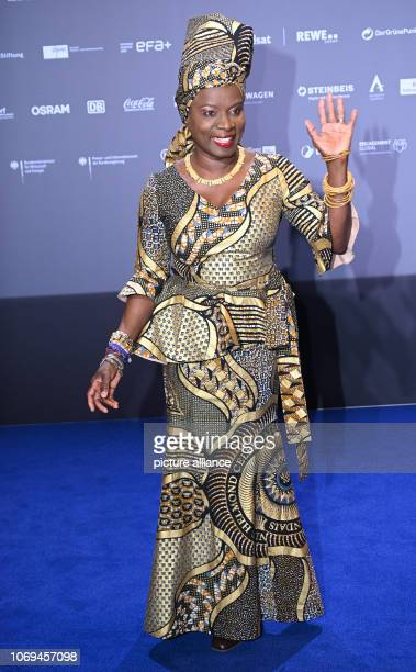 07 December 2018 North RhineWestphalia Düsseldorf Angelique Kidjo singer and winner of the honorary prize comes to the awarding of the 11th German...