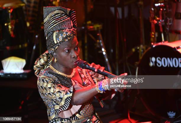 07 December 2018 North RhineWestphalia Düsseldorf Angelique Kidjo singer and winner of the honorary prize sings at the award ceremony of the 11th...