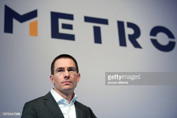 13 December 2018 North RhineWestphalia Düsseldorf Christian Baier Chief Financial Officer of Metro AG answers questions from journalists during his...