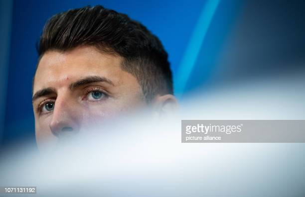 10 December 2018 North RhineWestphalia Gelsenkirchen Soccer Champions League Press conference before the 6th matchday FC Schalke 04 Locomotive Moscow...
