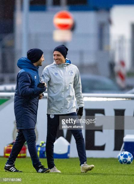 10 December 2018 North RhineWestphalia Gelsenkirchen Soccer Champions League 6th matchday final training before the match Schalke 04 locomotive...