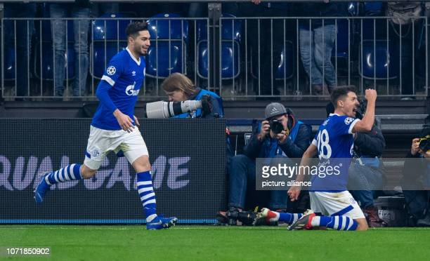 11 December 2018 North RhineWestphalia Gelsenkirchen Soccer Champions League FC Schalke 04 Locomotive Moscow Group stage Group D 6th matchday in the...