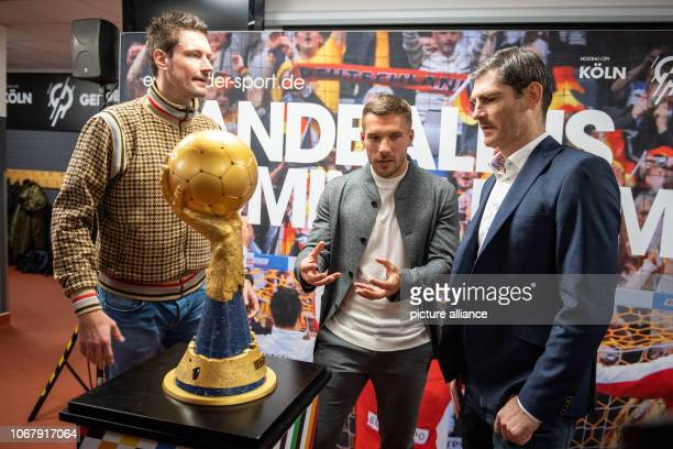 03 December 2018 North RhineWestphalia Köln Lukas Podolski Football World Champion and Ambassador of the 2019 World Handball Championship and the...