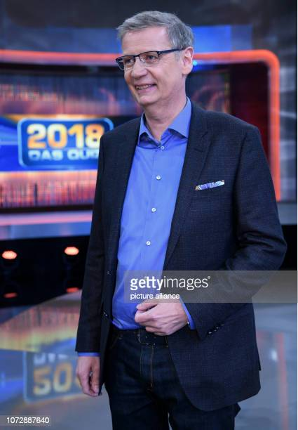 14 December 2018 North RhineWestphalia Köln Moderator Günther Jauch will be in the studio after the recording of the ARD show '2018 Das Quiz' The...