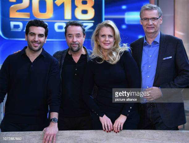 14 December 2018 North RhineWestphalia Köln The actors Elyas M'Barek and Jan Josef Liefers and the presenters Barbara Schöneberger and Günther Jauch...