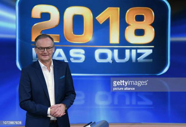 14 December 2018 North RhineWestphalia Köln The presenter Frank Plasberg is in the studio after the recording of the ARD show '2018 Das Quiz' The...
