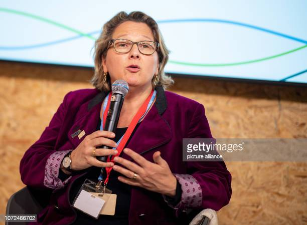 December 2018, Poland, Katowice: Svenja Schulze , Federal Environment Minister, speaks at an event at the World Climate Summit on the subject of...