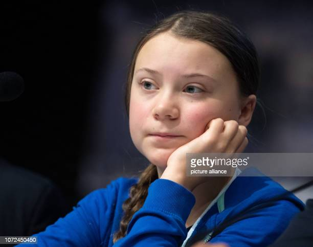 Greta Thunberg a young Swedish climate activist attends a press conference at the World Climate Summit The UN climate summit on climate change will...