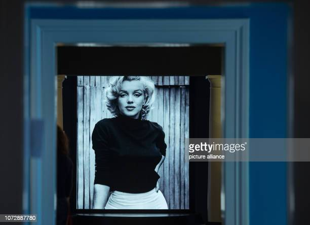 11 December 2018 RhinelandPalatinate Speyer In the exhibition the visitor is confronted with an oversized portrait of Marilyn Monroe The 'Historical...