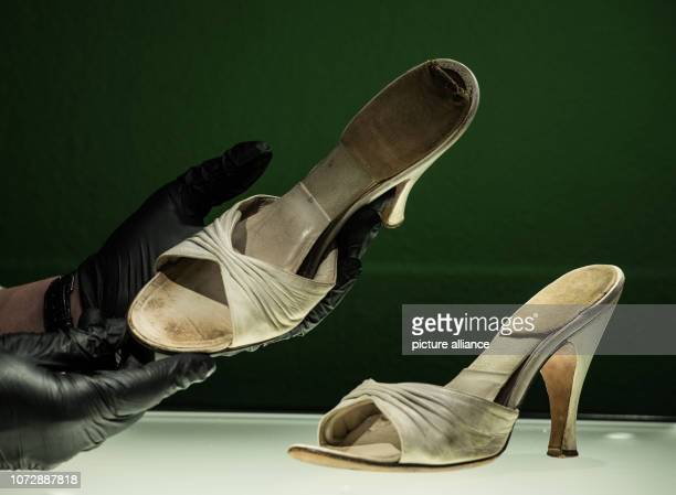 11 December 2018 RhinelandPalatinate Speyer Ted Stampfer lender and external curator presents a pair of shoes that the actress has actually worn in...