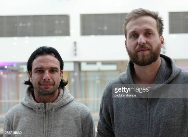 December 2018, Saxony, Leipzig: The Berlin hackers Jan Krissler alias Starbug and Julian Albrecht, who were concerned with overcoming the method of...