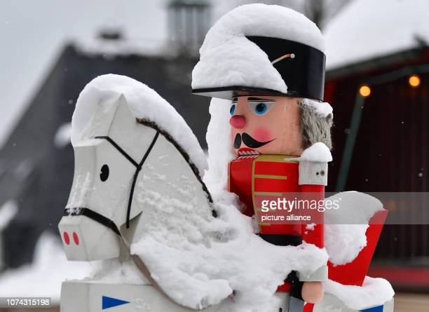 Snow lies on the socalled 'Seiffener Reiterlein' in the toy village of Seiffen During Advent Seiffen is considered a tourist magnet and attracts...