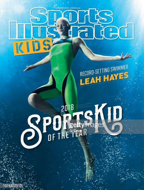 December 2018 Sports Illustrated For Kids Cover SportsKid of the Year Underwater portrait of Leah Hayes posing during photo shoot at Vaughn Aquatic...