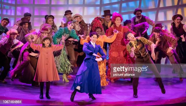 The ensemble of the musical Mary Poppins performs in the show Das Adventsfest der 100000 Lichter The show for the opening of the Christmas markets...