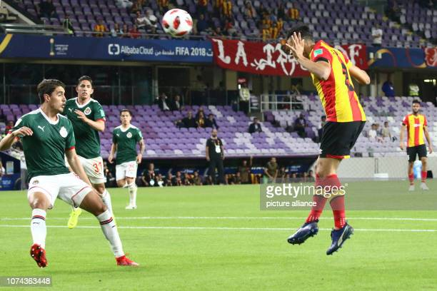 18 December 2018 United Arab Emirates Al Ain Tunis' Anice Badri heads the ball during the FIFA Club World Cup fifth place soccer match between ES...