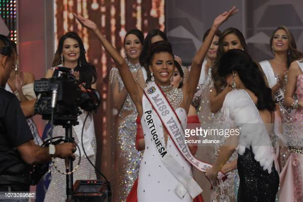Isabella Rodríguez is happy about her coronation as the new Miss Venezuela She ran as a candidate for the state of Portuguesa Photo Boris Vergara/dpa