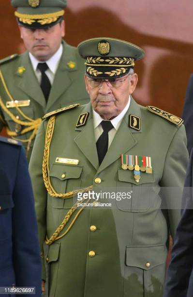 Algerian Army Chief of Staff Ahmed Gaid Salah attends the swearingin ceremony of Algerian President Abdelmadjid Tebboune Photo Farouk Batiche/dpa