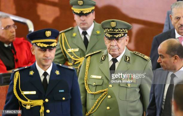 Algerian Army Chief of Staff Ahmed Gaid Salah attends the swearingin ceremony of Algerian President Abdelmadjid Tebboune Photo Farouk Batiche/dpa