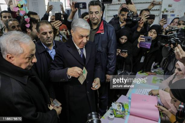 December 2019, Algeria, Algiers: Ali Benflis , Algerian presidential candidate and head of Talaie El-Hurriyet party, registers before casting his...