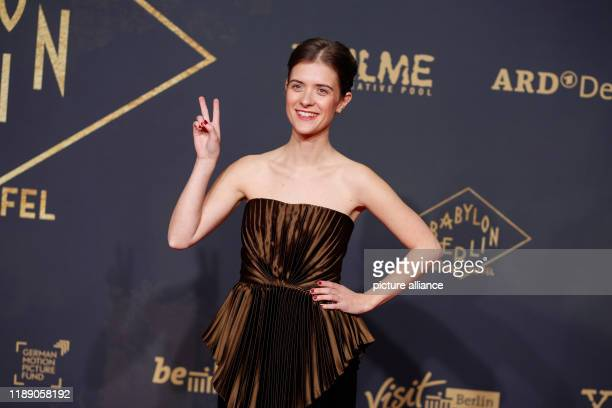 """December 2019, Berlin: Liv Lisa Fries comes to the world premiere of the new season of """"Babylon Berlin"""" at the Zoo-Palast. Photo: Gerald..."""