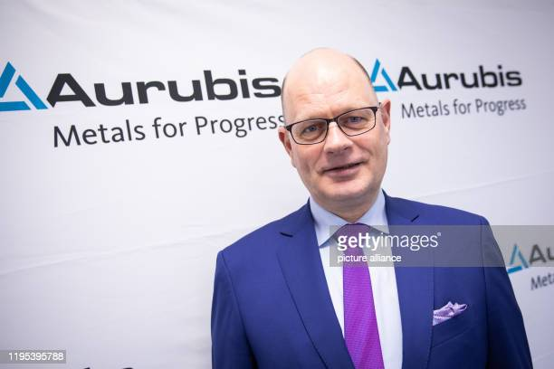 Rainer Verhoeven Chief Financial Officer of Aurubis AG is at the annual press conference in the new Innovation and Training Centre on the Aurubis AG...