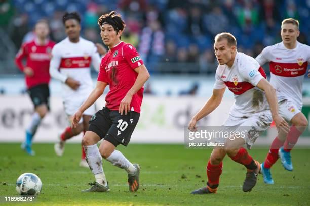 December 2019, Lower Saxony, Hanover: Football: 2nd Bundesliga, Hanover 96 - VfB Stuttgart, 18th matchday in the HDI Arena. Hannover's Genki...