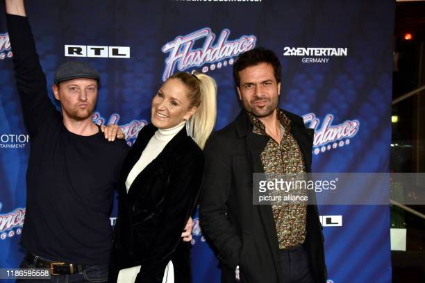 """December 2019, North Rhine-Westphalia, Cologne: Actors Steffen Will, l-r, Janine Kunze and Kai Schumann come to the premiere and tour kick-off of """"..."""