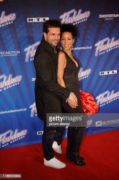 04 December 2019 North RhineWestphalia Cologne The actor Kai Schumann and his partner Marva Fischer come to the tour kickoff of Flashdance Das...