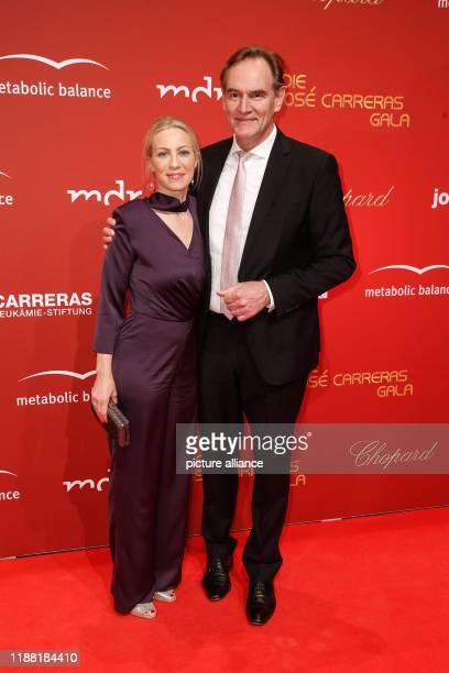 Burkhard Jung and Mrs Ayleena Jung come to the 25 José Carreras Gala at the Leipzig Fair Photo Gerald Matzka/dpaZentralbild/ZB