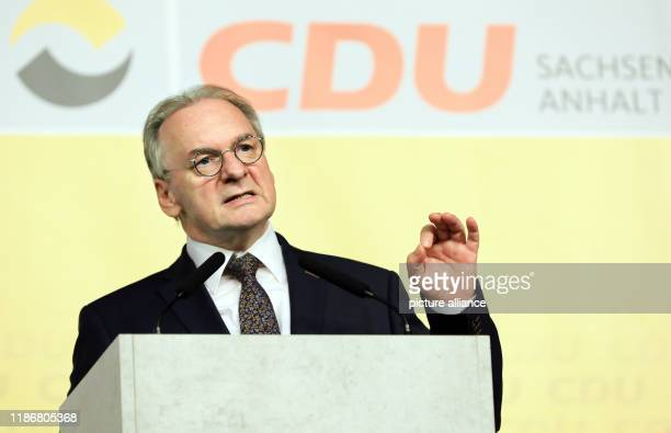 07 December 2019 SaxonyAnhalt Magdeburg Reiner Haseloff Prime Minister of SaxonyAnhalt will speak about the CDU's future strategy at the small party...
