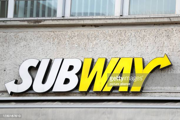 """December 2020, Berlin: The logo of the shop """"Subway"""" at Alexanderplatz. Photo: Gerald Matzka/dpa-Zentralbild/ZB"""