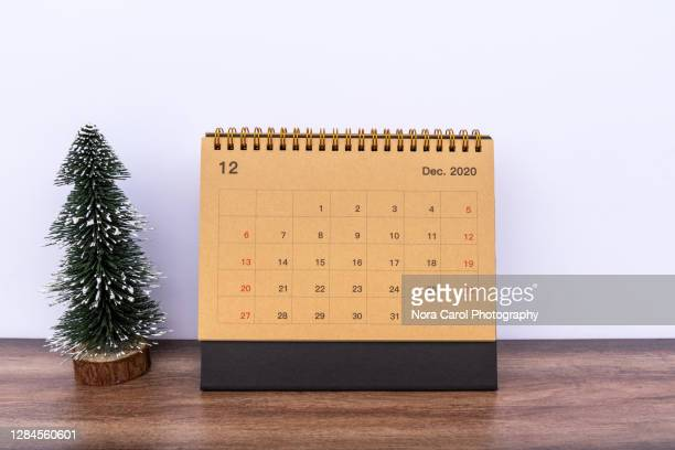 december 2020 calendar - december stock pictures, royalty-free photos & images