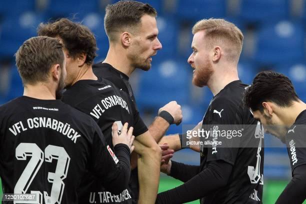 December 2020, Lower Saxony, Brunswick: Football: 2nd Bundesliga, Eintracht Braunschweig - VfL Osnabrück, 11th matchday at the Eintracht stadium...
