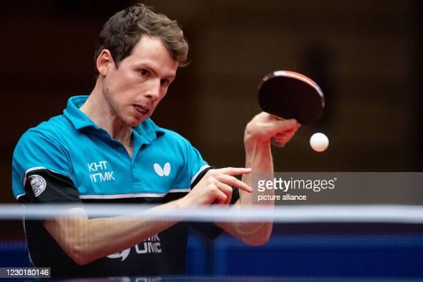 December 2020, North Rhine-Westphalia, Duesseldorf: Table Tennis, Men: Champions League, Final Round, Semifinals, Borussia Düsseldorf - UMMC...