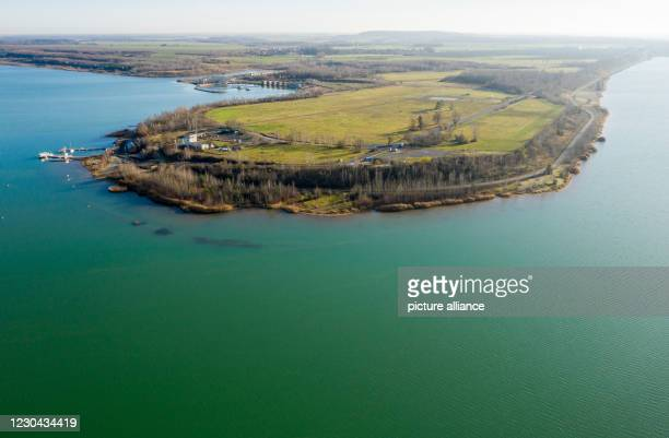 December 2020, Saxony, Großpösna: The Magdeborn peninsula in Lake Störmthal is being considered for the establishment of a Helmholtz Centre. Photo:...