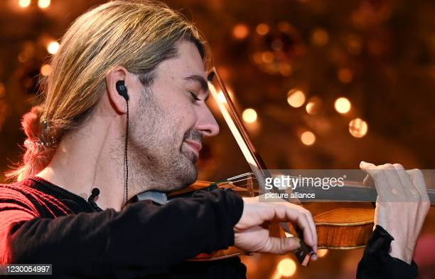 December 2020, Saxony, Leipzig: The German violinist David Garrett will perform during the 26th Jose Carreras Gala. The show will be broadcast live...