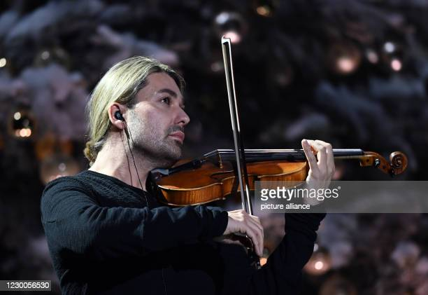 December 2020, Saxony, Leipzig: The German violinist David Garrett will be on stage during the Jose Carreras Gala in Leipzig. The show will be...