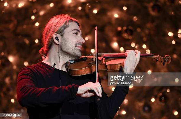 December 2020, Saxony, Leipzig: The German violinist David Garrett will be on stage during the José Carreras Gala in Leipzig. The show will be...