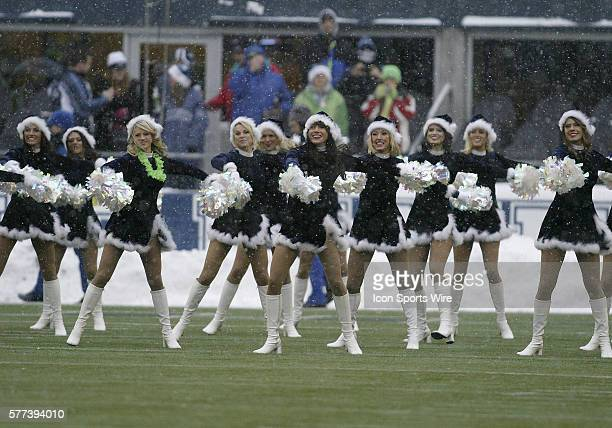 Seattle Seahawks cheerleaders entertained the crowed during the start of the second quarter against NY Jets at Quest Field in Seattle WA Seattle won...