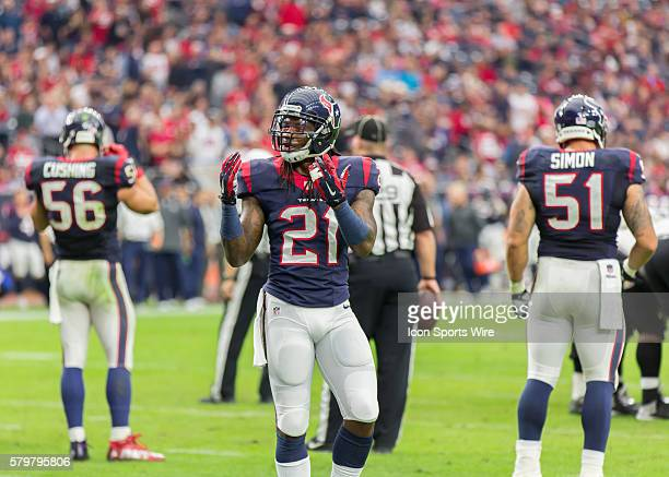 Houston Texans Safety Kendrick Lewis during the NFL game between the Baltimore Ravens and the Houston Texans at NRG Stadium in Houston TX