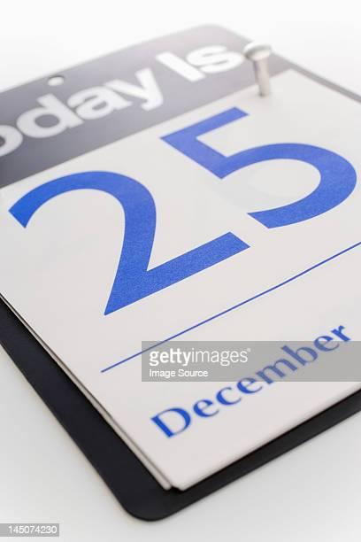 El 25 de diciembre fecha del calendario