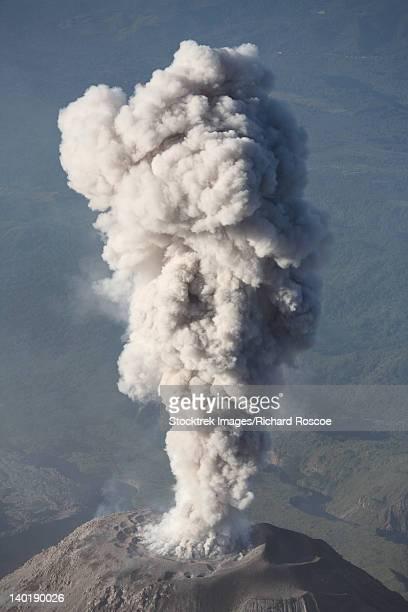 December 26, 2007 - Eruption of ash cloud from Santiaguito dome complex, Santa Maria volcano, Guatemala.