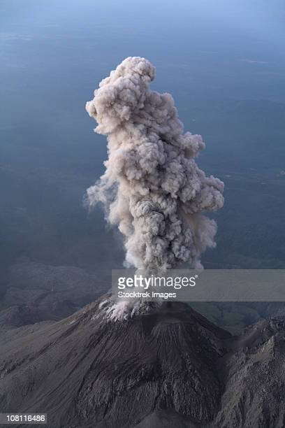 december 26, 2007 - santiaguito ash eruption, guatemala. - stratovolcano stock photos and pictures