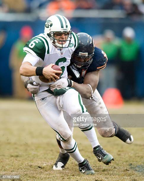 New York Jets at Chicago Bears at Soldier Field in Chicago IL NY Jets lose to the Chicago Bears 3834 Mark Sanchez looking dejected after turning over...
